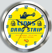 Lions Drag Strip Wall Clock Drag Racing 1960and039s