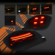 Smoked Red 3d Stripe Led Bar Tail Lights For Porsche Boxster And Cayman 987 09-12