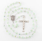 Round Chrysolite Crystal Rosary
