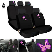 New Car Truck Suv Seat Covers Butterfly Design Full Set With Gift For Hyundai
