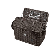 Mercedes Benz Original Picnic Basket With Cooling Bag Complete For 2 People New