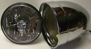 New 5-3/4 Inch Adjure Hb51010 Smooth Motorcycle Headlight/headlamp And Skull Lamp