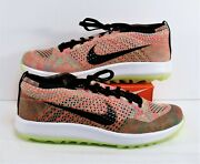 Nike Flyknit Racer G Spikeless Multi Color Mens Golf Shoes Sz 8 New 909756 300