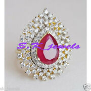 2.07ctw Natural Diamond Ruby 14k Solid Yellow Gold Wedding Anniversary Ruby