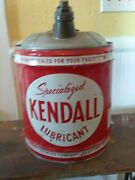 Antique Kendall Specialized Lubricant 5 Gallon Oil Can