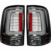 Recon Clear Lense Oled Tail Lights For 2013-2018 Dodge Ram W/ Oe Led Tail Lights