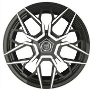 4 Gwg Mizu 22 Inch Gloss Black Machined Rims Fits Nissan Frontier Le 2009 - 2018