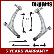 Front Lower Control Arm Ball Joint Link Tie Rod Kit 8pcs Fit For Nissan Maxima