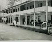 1950s Rppc Hotel Woodside Queens New York Porch Water Fountain Phone Booth