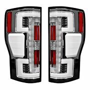Recon Dual Ubar Clear Lens Oled Tail Lights For 2017-2019 Ford Super Duty And039blisand039