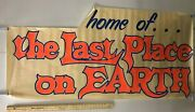 Huge Subway Poster Home Of... The Last Place On Earth Advertisement Cult Rock