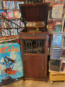 Thomas Edison Phonograph From 1910 Good Cond Works Perfectly Includes Records
