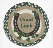 2 Braided Jute Round Placemat/trivet/swatch.good Luck/celtic Luck.earth Rugs.10