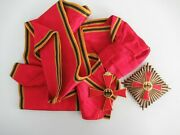 Germany Federal Rep. Order Of Merit Grand Cross Badge Sash And Star. Silver/marked