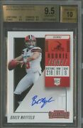 2018 Contenders Rookie Ticket Baker Mayfield Browns Rc Rookie Auto Bgs 9.5 W/ 10