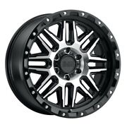 Black Rhino Alamo 20x9 6x120 Et12 Black W/mach Face And Stainless Bolts Qty Of 4