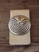Navajo Indian Jewelry Man In The Maze Money Clip Sterling Silver