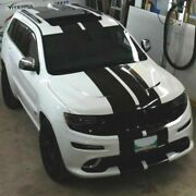 Sticker Decal Stripe Kit For Jeep Grand Cherokee Mirror Cover Fender Hood Lift