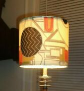 Art Deco 8 Inch Dia. Lamp Shade - Designer Fabric - For Vintage Lamps Cliff