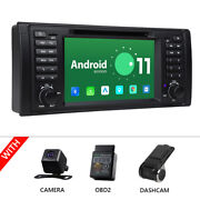 Cam+obd+dvr+for Bmw E39 M5 Android 10 7 Lcd Car Stereo Gps Radio Dvd Player 4g