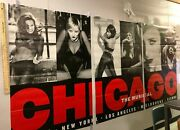 Huge Three Part Subway Poster Chicago The Musical Live Nyc La Melbourne Vienna