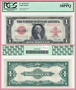 1923 1 Legal Tender Us Note Pcgs 30 Ppq Very Fine Vf Large-size Red Seal Dollar