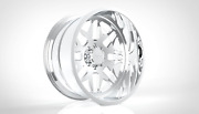 4 22x10 Jtx Forged Polished Ricochet Wheels For Chevy Gmc Ford Dodge Toyota