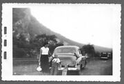 Vintage 1950s Photo Snapshot Mother And Young Son On Road Trip Vintage Classic Car