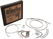 Burly Brand - B30-1239 - Complete Stainless Braided Handlebar Cable/brake Line K