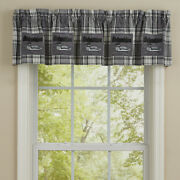 1 Gray Area Loons Rustic Plaid Country Cabin Cotton Lined Valance 60 X 14