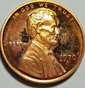 1970 S Proof Lincoln Memorial Penny Ddo Double Die Obv Fs-101 Toned Error Coin