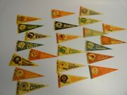 Lot Of 22 1970s 1970's Dr Pepper Nfl Mini Pennants Patriots 49ers Packers Bears