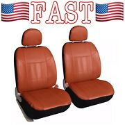Pair Of Faux Leather Front Car Seat Covers Universal Fit Brow