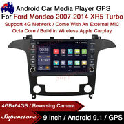 """9"""" Android 10.1 Car Stereo Non-dvd Gps Radio Head Unit For Ford Mondeo Xr5 Turbo"""