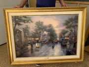 O/c Painting Of Carmel And039sunset On Ocean Avenueand039 By Thomas Kinkade And039artist Proof