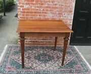 Antique French Walnut Wood Louis Xvi Table / Game Table / Desk Table