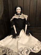 """17"""" Very Rare Fancy Hairstyle Conta Boehme 1870 Antique German China Doll"""