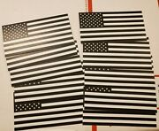 Lot Pack Set Of 10 Usa American Flag Vinyl Sticker Decal White And Black 4 X 2