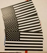 Lot Pack Set Of 5 Usa American Flag Vinyl Sticker Decal White And Black 4 X 2