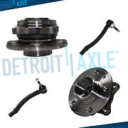 4pc Front Wheel Hub Bearing + Outer Tie Rods For 2001 - 2007 Volvo S60 S80 V70