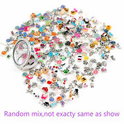 100pcs Fashion Mix Alloy Floating Charms For Glass Memory Living Lockets Jewelry