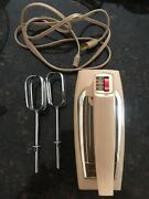 Vintage Atomic Ge General Electric 30m47 Deluxe Hand Mixer Works