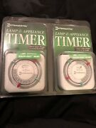 Nos Intermatic Lamp Appliance 24 Hour Timers Twin Pack Tn111c61 New