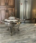 Vintage Reed And Barton King Francis Silver-plate Chafing Dish - Great Condition