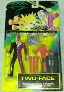 Vintage Kenner Batman Forever Two Face 5 Action Figure W/ Cannon And Coin New