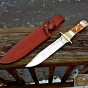 Rough Rider Roy Rogers Bowie Fixed Knife 6.25 Stainless Blade Pearl Bone Handle