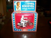 Ideal Toys 1976 Evel Knievel Precision Miniatures Die Cast Stunt Cycle Mib Nrfb.