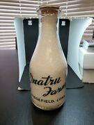 Onatru Farm Dairy Milk Bottle Ridgefield Conn Very Rare Bottle