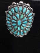 """Vintage/old Pawn Native American Huge Statement Turquoise Cuff"""" Exquisite"""