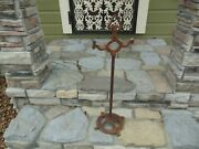Antique Cast Iron Stand Up Ornate Victorian Ashtray Smoking Stand 29.5